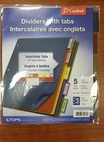 5 TAB COLOR DIVIDERS