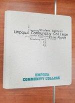 """UMPQUA COMMUNITY COLLEGE 1"""" BINDER - CHIPBOARD"""