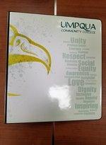 "UMPQUA COMMUNITY COLLEGE 2"" BINDER - POSITIVE WORDS"