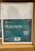 FILLER PAPER 500 SHEETS
