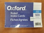 "OXFORD RULED INDEX CARDS 4""X6"""