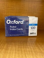 3 X 5 OXFORD RULED INDEX CARDS