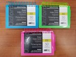 SPIRAL BOUND RULED INDEX CARDS 50 ASST COLORS