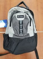 EVEREST DELUXE BACKPACK CHARCOAL/GREY/BLACK